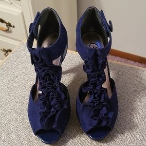 Cobalt Blue Heels. Size 8.
